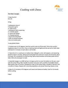 Cooking with Dana – Zucchini Lasagna