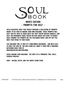 SoulBook – Prompts for Men Self – Melody Ross